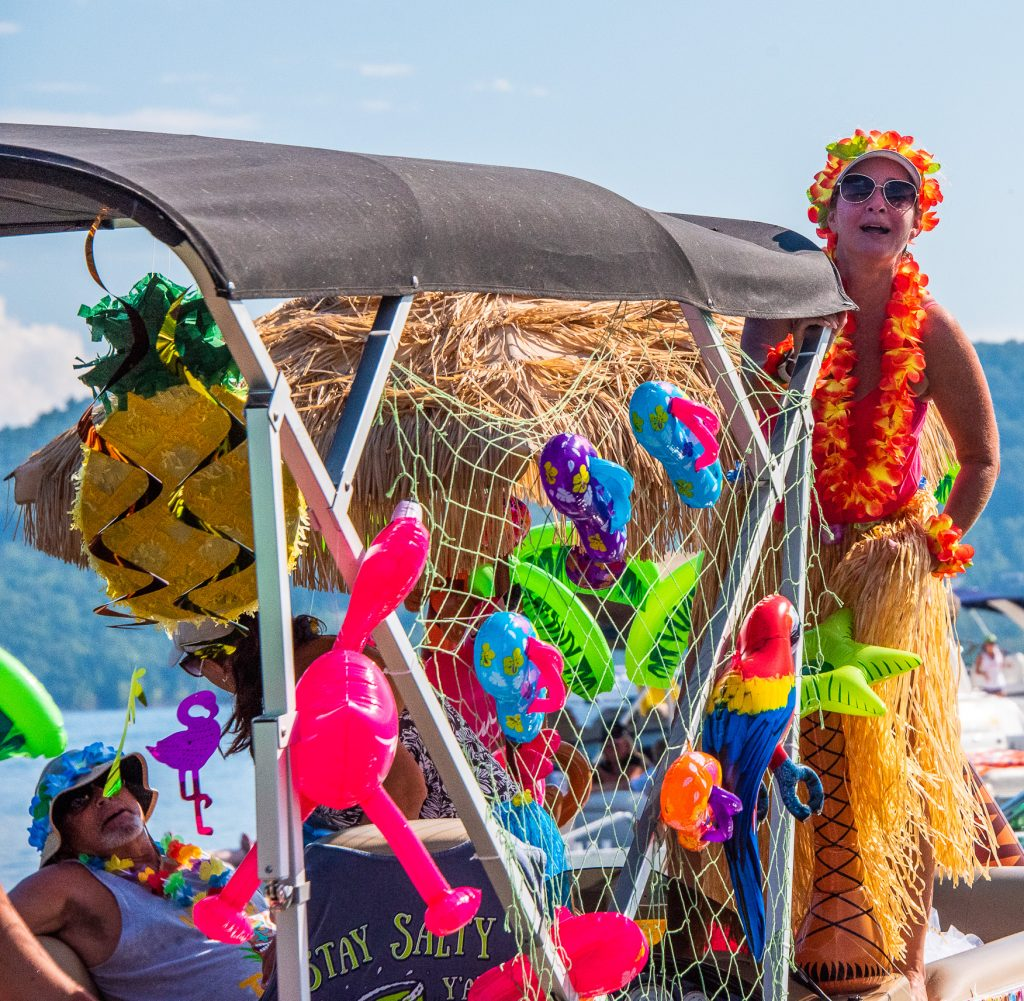 Luau party boat